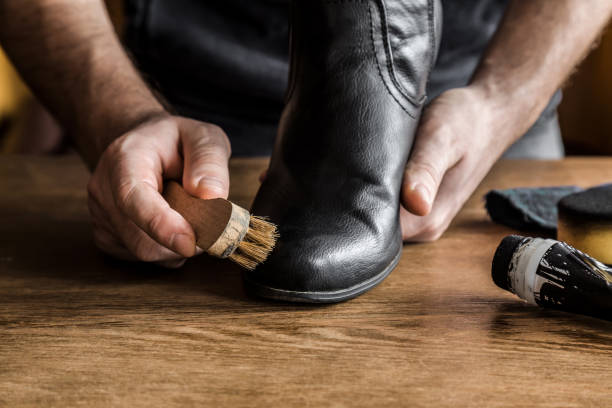 clean and polish leather boots