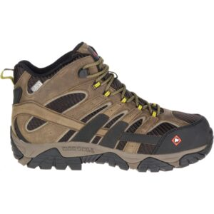 """Moab"""" 2 vent mid waterproof comp toe work boot by Merrell"""