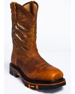 "Flag"" western work boots"