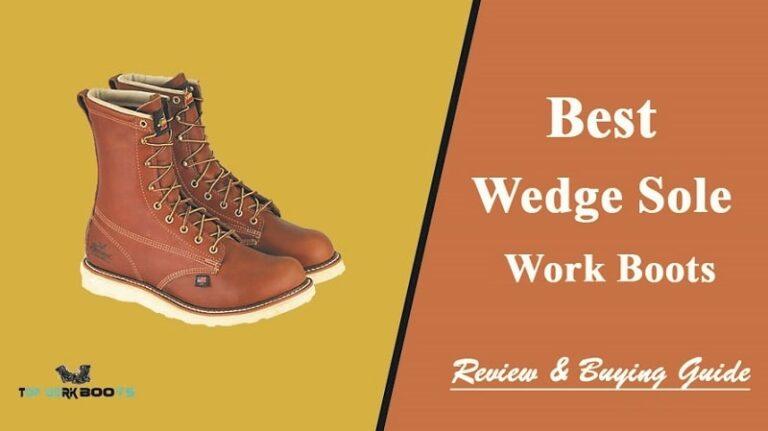 waterproof wedge work boots