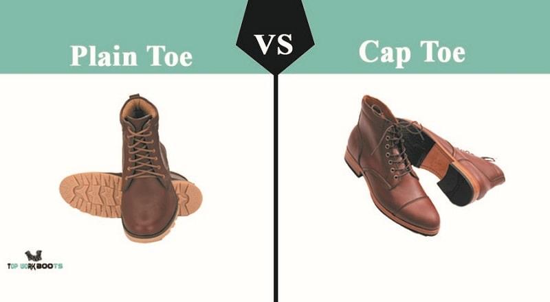 plain toe vs cap toe