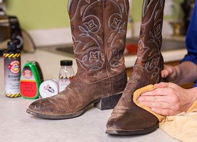 polished cowboy boots
