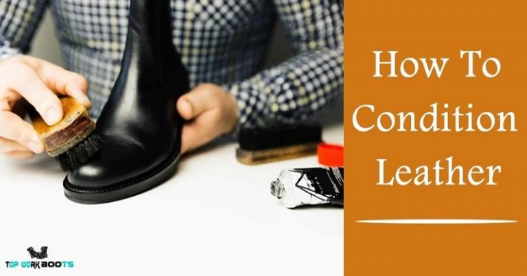 how to condition leather