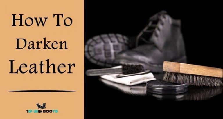how to darken leather